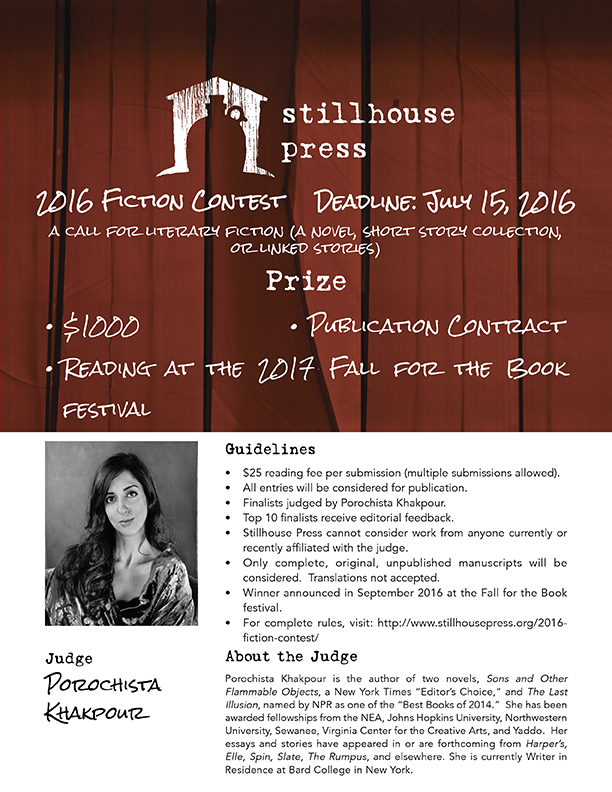 2016 Fiction/Poetry Contest Advert